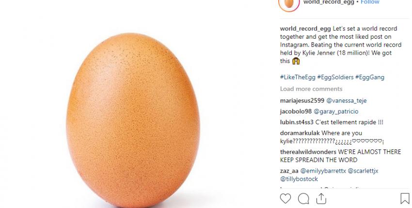 """Un solitario huevo se ha convertido en la foto con más """"me gusta"""" de la historia de Instagram"""