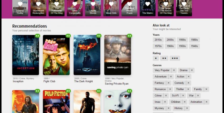 Esta web usa inteligencia artificial para recomendarte la película ideal según tus gustos